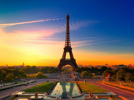sunset-in-paris wallpaper